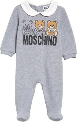 Moschino Bear Logo Collared Footie