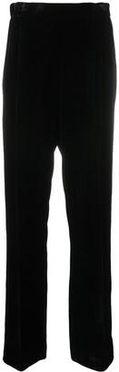 No.21 High-Waisted Crystal-Embellished Trousers