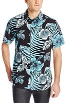 Margaritaville Men's Short-Sleeve Bbq Shirt - Deep Floral