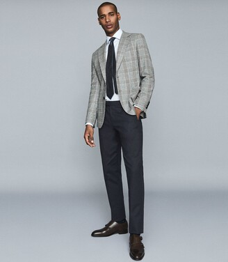 Reiss Cob - Slim Fit Check Blazer in Grey