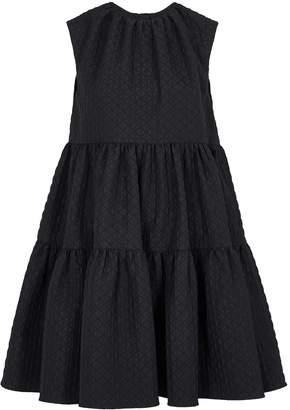 MSGM Black Jacquard Mini Dress