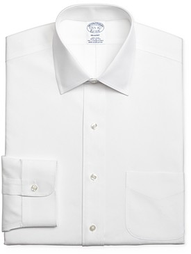 Brooks Brothers Solid Stretch Regular Fit Dress Shirt