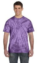Trenz Shirt Company Tie Dyes Men's Tie Dyed Performance T-Shirt H1000 Spiral-mardi gras-xxl