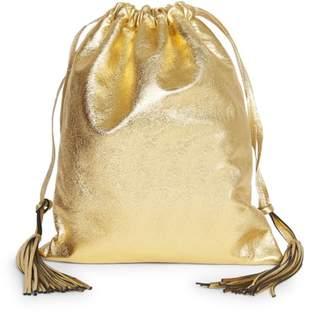 ATTICO Gold Lame Leather Pouch