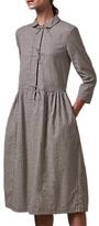 Toast Gingham Tie Front Dress, Black/Ecru