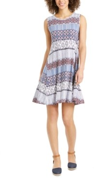 Style&Co. Style & Co Sleeveless Printed A-Line Dress, Created for Macy's