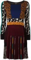 Etro multi print pleated dress - women - Silk/Cotton/Viscose/Wool - 44