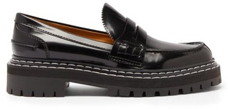 Proenza Schouler Topstitched Patent-leather Loafers - Black