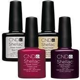 CND Shellac UV/LED Power Polish, Top/Base/Tinted Love/Plum Paisley 7.3 ml - Pack of 4