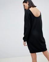 Asos Design DESIGN jumper dress with scoop back in eco yarn