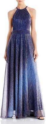 Avery G Metallic Ombré Gown