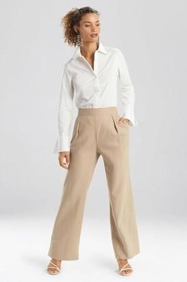 Natori Solid Linen Wide Leg Pants