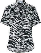 Prada zebra stripes printed shirt
