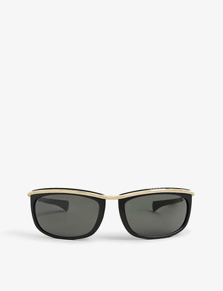 Ray-Ban RB2319 62 Olympian I oval-framed metal sunglasses