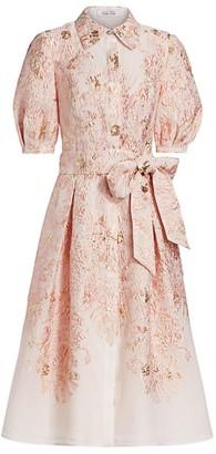 Teri Jon By Rickie Freeman Jacquard Shirt Dress