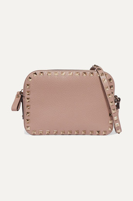 Valentino Garavani Rockstud Textured-leather Shoulder Bag - Blush