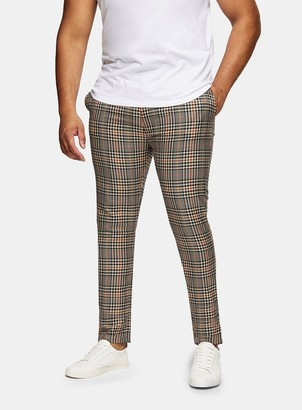 Topman BIG & TALL BIG Houndstooth Trousers*