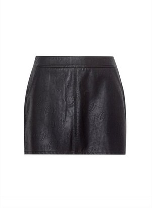 Dorothy Perkins Womens Dp Curve Black Pu Mini Skirt, Black