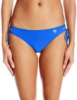 Body Glove Women's Smoothies Tie Side Mia Mid Coverage Bikini Bottom