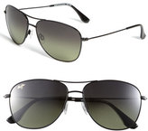 Maui Jim Women's 'Cliff House - Polarizedplus' 59Mm Metal Aviator Sunglasses - Gloss Black