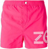 Kenzo logo print swim shorts - men - Nylon/Polyester - XS