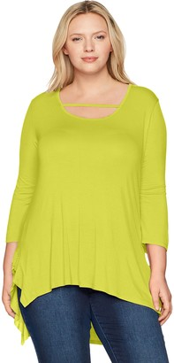 Love Scarlett Women's Plus Size Scoop Neck Ruffle Hem Tee