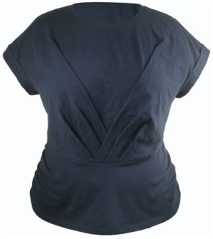 INC International Concepts Inc Plus Size Pleated Front Top, Created for Macy's
