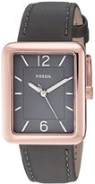 Fossil Women's ES4245 Atwater Three-Hand Gray Leather Watch