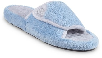 Isotoner Women's Microterry Pillowstep Spa Slippers with Memory Foam