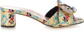Miu Miu Embellished floral-mogador mules