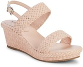 MICHAEL Michael Kors Girl's Mira Venetia Woven Monogram Wedge Sandals