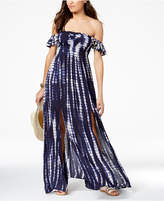Raviya Off-The-Shoulder Ruffled Maxi Cover-Up Women's Swimsuit