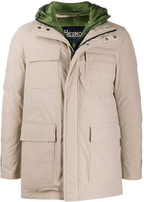 Herno flap pockets zip-up jacket