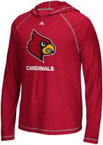 adidas Men's Louisville Cardinals Loyal Fan Climalite Hooded Long Sleeve T-Shirt