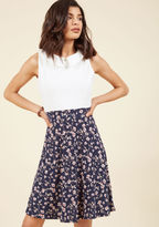 ModCloth Tea Bar Meeting A-Line Dress in XL