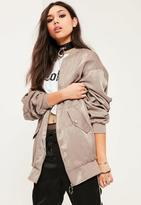 Missguided Ruched Back Bomber Jacket