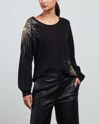 Sass & Bide Women's Black Jumpers - Game Night Knit - Size XS at The Iconic
