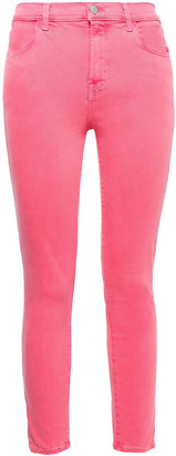 J Brand Printed High-rise Slim-leg Jeans