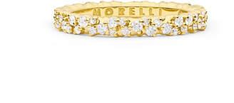Paul Morelli Confetti 18k Yellow Gold Ring with White Diamonds, Size 6.5