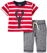 Hatley Retro Nautical Track Pant Set (Baby) - Red - 3-6 Months