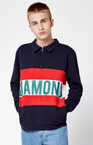 Diamond Supply Co. Burnout Quarter Zip Sweater