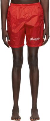 Palm Angels Red Desert Logo Swim Shorts