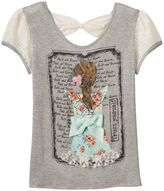 Disney D-Signed Beauty and the Beast Girls 7-16 Belle Lace Bow Hatchi Graphic Tee