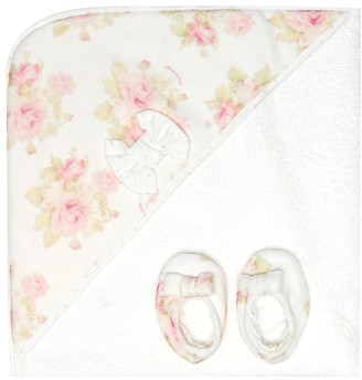 MonnaLisa Baby cotton towel and slippers set