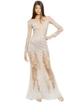 Swarovski Embellished Silk Long Dress