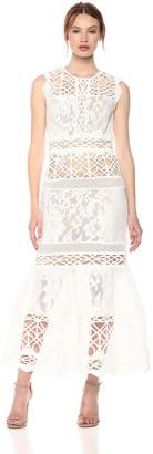Monique Lhuillier Ml ML Monique Lhuillier Women's Sleeveless Lace Dress