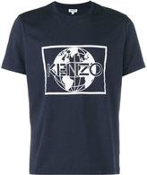 Kenzo Globe logo print t-shirt