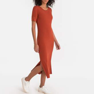 La Redoute Collections Ribbed T-Shirt Midi Dress