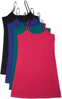 Active Products 4 Pack Active Basic Women's Basic Tank Top (S-Wh/Khki/Chcl/Bk)