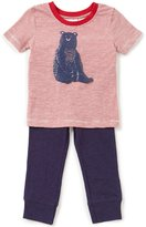Starting Out Baby Boys 12-24 Months Short-Sleeve Bear Tee & Pants Set